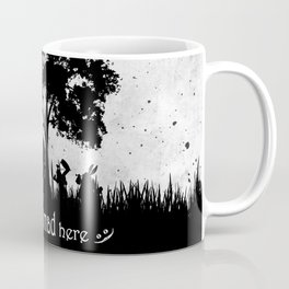 We're All Mad Here Alice In Wonderland Silhouette Art Coffee Mug