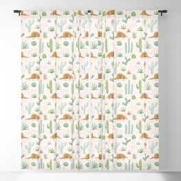 Armadillos in the Desert - Watercolor Blackout Curtain