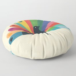 Whimsical Peacok Floor Pillow