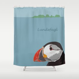 Lundefugl / Puffin Shower Curtain