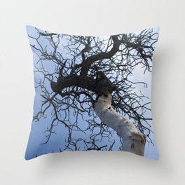 Tree by the Ocean Throw Pillow