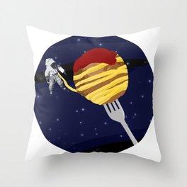 Space Spaghetti Throw Pillow