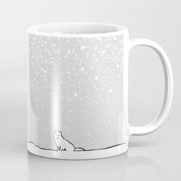 Art print: The polar bear family and the arctic fox Coffee Mug