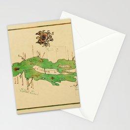 Map Of Lake Champlain 1740 Stationery Cards