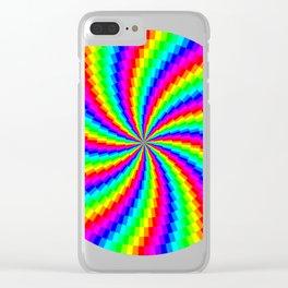 Rainbow Swirl Clear iPhone Case