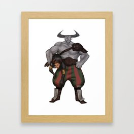 DA crew Iron bull Framed Art Print