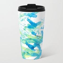 Blue Green and Yellow Travel Mug