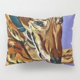 Emmitt the Whippet Dog Portrait Pillow Sham