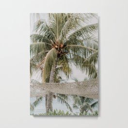 Beach vibes || Curaçao, Jan Thiel, Koko's || Palm tree || Nature || Travel Photography Metal Print