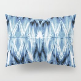 Blue Satin Shibori Argyle Pillow Sham