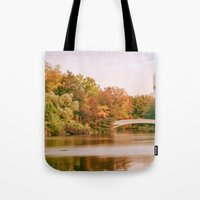 central park Tote Bags featuring Central Park by Vivienne Gucwa