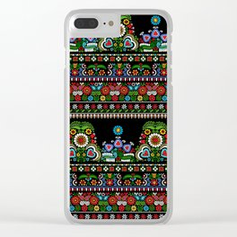 Hungarian embroidery pattern Clear iPhone Case