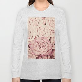 Some people grumble I Floral rose roses flowers pink Long Sleeve T-shirt