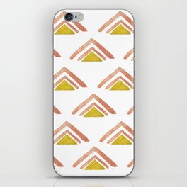 Pink and Yellow Boho Triangles iPhone Skin