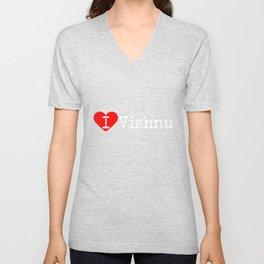 I Heart Vishnu | Love Vishnu Unisex V-Neck