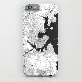 Portland Maine Map Gray iPhone Case