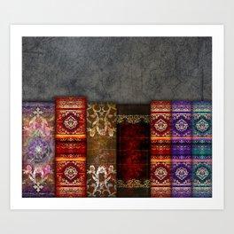 Medieval Ancient Tome Book Shelf Art Print
