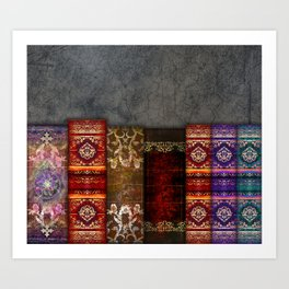 Medieval Ancient Tome Book Shelf Art Print