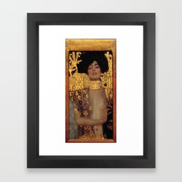 Gustav Klimt Judith and the Head of Holofernes (detail) 1901 Framed Art Print