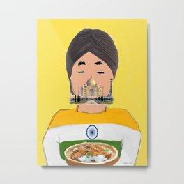 The Indian Metal Print