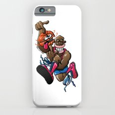 Basketball player high jumping while spinning a dizzy ball iPhone 6s Slim Case