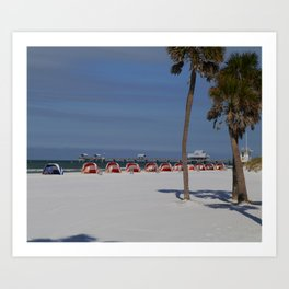 A November Day At Clearwater Beach Art Print