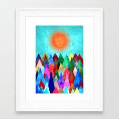 Summer Peaks Framed Art Print
