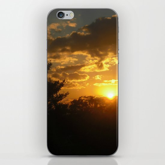 Silhouette Sunset iPhone & iPod Skin
