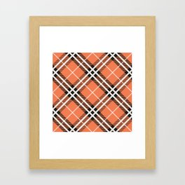 Traditional orange and white Scottish plaid tartan. Framed Art Print