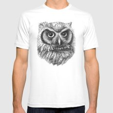 Intense Owl G137 Mens Fitted Tee White MEDIUM