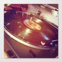 vinyl Canvas Prints featuring Vinyl by haley lefever