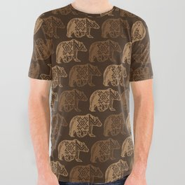 Bear Spirit All Over Graphic Tee