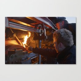 Fixed brake on a steam locomotive Canvas Print