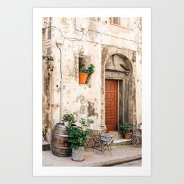 Old street with plants in Bonifacio | Travel Photography France | Fine Art Photo Print Art Print