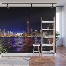 toronto city cn tower skydome Wall Mural