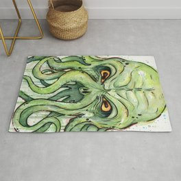 Cthulhu HP Lovecraft Green Monster Tentacles Rug