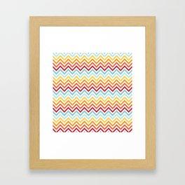 Rainbow Chevron #2 Framed Art Print