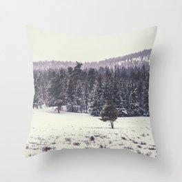 Colorado Winter Trees Throw Pillow