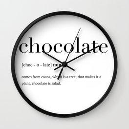 Chocolate definition Wall Clock