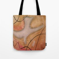 religious Tote Bags featuring The Dove Religious Abstract Art By Saribelle  by Saribelle Inspirational Art