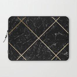 Gold & Black Marble 01 Laptop Sleeve