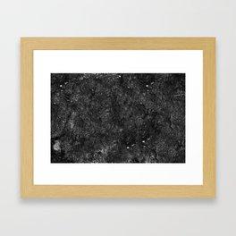 Starry Black Marble Framed Art Print