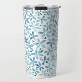 Blue Bouquet Travel Mug