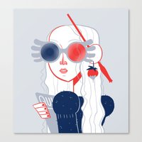 luna lovegood Canvas Prints featuring Luna Lovegood by Julia Jolly Joules