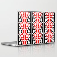 maori Laptop & iPad Skins featuring  Maori Kowhaiwhai Traditional Pattern  by mailboxdisco