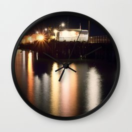 Night Light Harford Pier Port San Luis Avila Beach Wall Clock