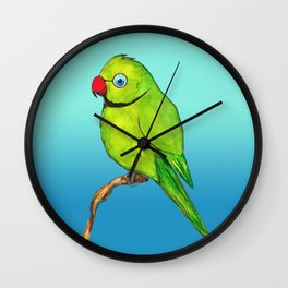 Cute Indian ring neck Wall Clock