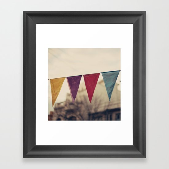 Flags (Vintage and retro photopgraphy) Framed Art Print