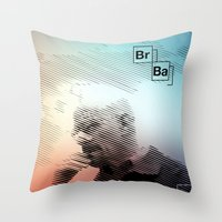 breaking bad Throw Pillows featuring Breaking Bad by Crazy Thoom