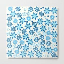 Intricate Snowflakes Print Metal Print